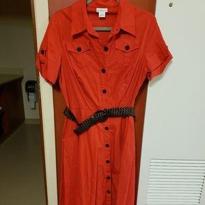 Orange dress size 10